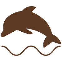 dolphin-icon-brown